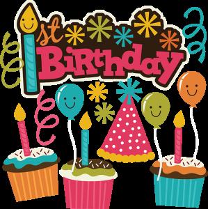 1st Birthday SVG Scrapbook Collection birthday svg files cupcake svg files cutting files for scrapbooking