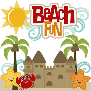 Beach Fun SVG Scrapbook svg files for scrapbooking beach cutting files for scrapbooks