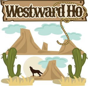 Westward Ho SVG Scrapbook Collection western svg files for scrapbooks coyote svg file