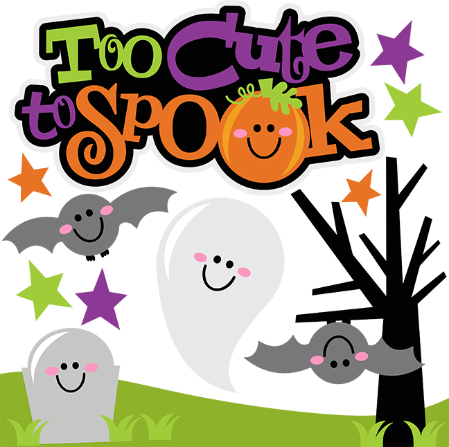 Too Cute To Spook Svg Scrapbook Collection Halloween Svg Files For Scrapbooking Halloween Cut Files For