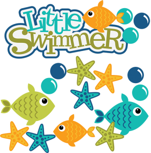 Little Swimmer SVG scrapbook files fish svg file fish cut files for scrapbooking summer svg files
