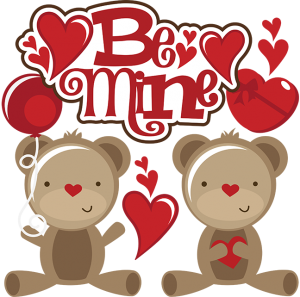 Be Mine SVG scrapbook collection reddy bear svg file for scrapbookins valentines day svg files