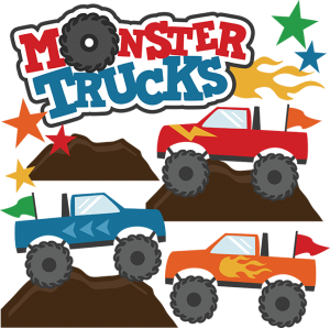 Monster Trucks SVG Scrapbook Collections monster trucks cut files for scrapbooking monster trucks svg files