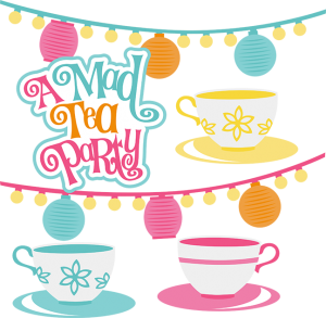 A Mad Tea Party SVG Scrapbook Collection svg files for scrapbooks and cardmaking
