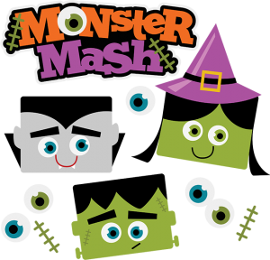 Monster Mash Halloween SVG Scrapbook Collection vampire svg file witch svg file frankenstein svg file