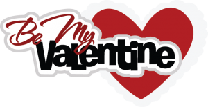Be My Valentine Title SVG Scrapbook Cardmaking valentines day cut files for scrapbooking