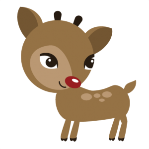 Reindeer SVG file for scrapbooking cute cut files for scrapbooks cute svg cuts for cardmaking