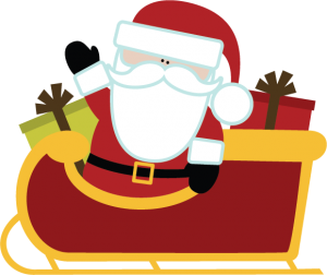 Santa In Sleigh SVG file for scrapbooking cute christmas svg files for scrapbooks carkmaking