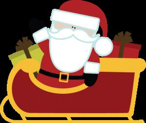 Santa In Sleigh SVG file for scrapbooking cute christmas svg files for scrapbooks carkmaking
