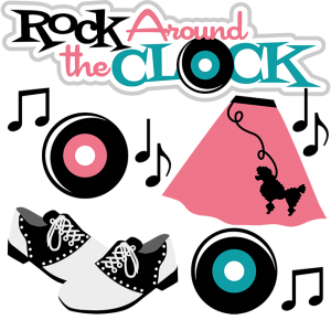 Rock Around The Clock SVG scrapbook files cute svg cuts cute cute files for scrapbooking cardmaking