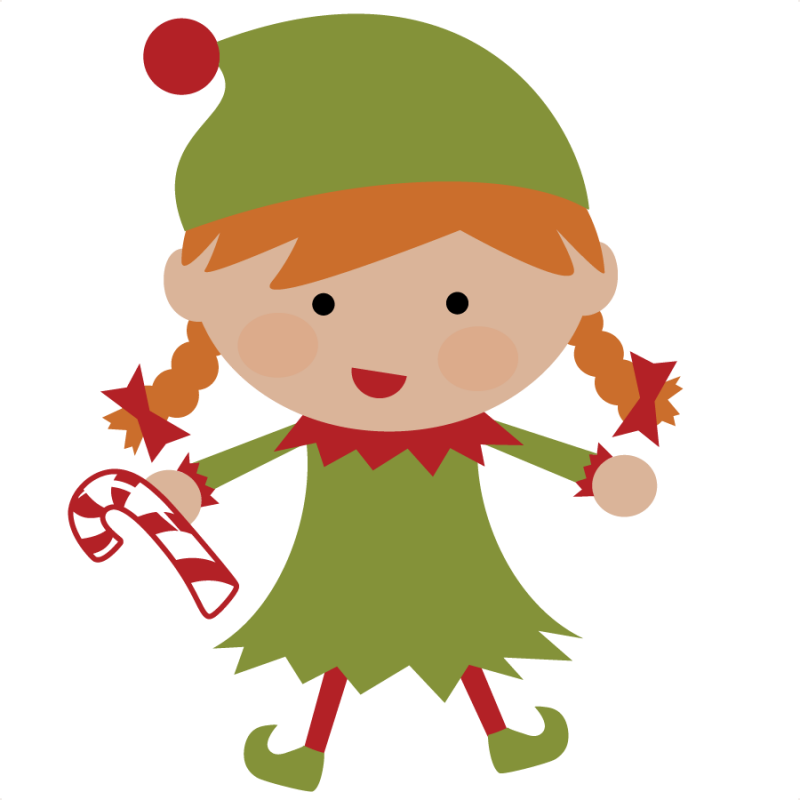 Elf SVG file for scrapbooking cute christmas elf svg cut christmas elf ...