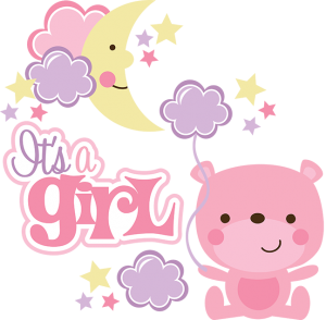 It's A Girl SVG scrapbook collection baby girl svg files for scrapbooking cardmaking cute svg cuts