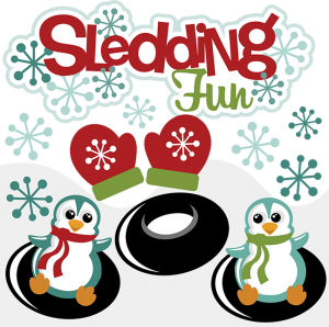 Sledding Fun SVG scrapbook collection snow svg files for scrapbooking cute svg cuts
