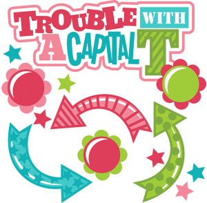 Trouble With A Capital T SVG scrapbook files cute girl svg cuts for scrapbooking girl svg files free svgs
