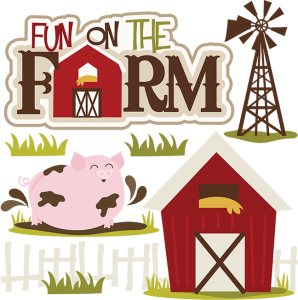 Fun On The Farm SVG collection for scrapbooking farm svg cuts farm cut files pig svg file barn svg file