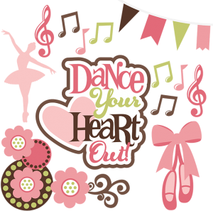 Dance Your Heart Out SVG dance svg files dance cut files for scrapbooking dance svg cuts