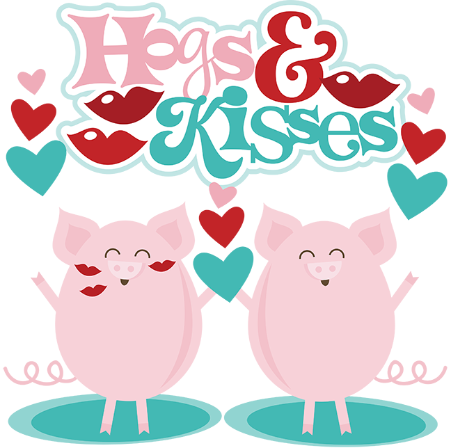 Hogs Amp Kisses SVG Scrapbook Files Cute Svg Cuts Valentines