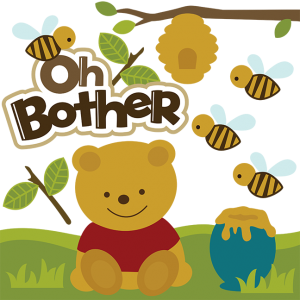 Oh Bother SVG scrapbook file cute bear svg file bear svg cut svg files for scrapbooking