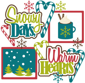 Snowy Days, Warm Hearts SVG scrapbook collection snow svg files winter svg cuts cute svgs