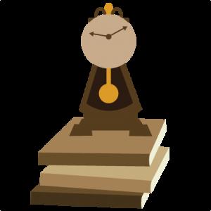 Clock On Books SVG scrapbook file cute svg cuts cute cut files for scrapbooking svg files