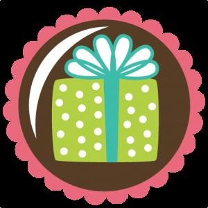 Present In Circle Scallop SVG scrapbook file free svg file for scrapbooking cardmaking free svgs