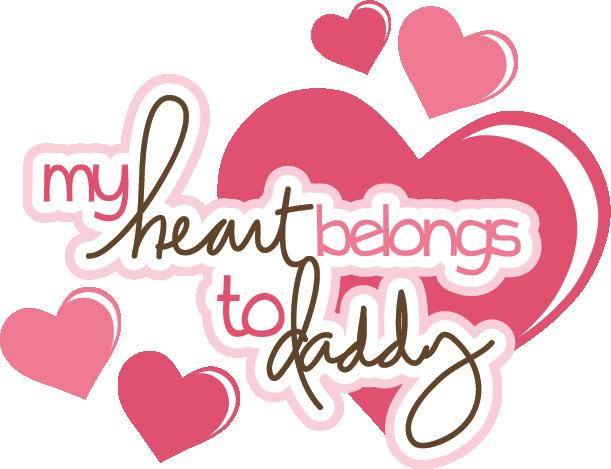 My Heart Belongs To Daddy Svg Scrapbook Title Svg Files