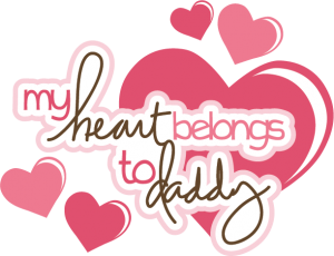 My Heart Belongs To Daddy SVG scrapbook title svg files free svgs cute svg cuts free svg cuts