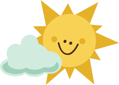 Sun With Cloud SVG file for scrapbooking sun svg file ...