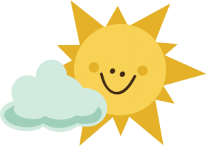 Sun With Cloud SVG file for scrapbooking sun svg file cloud svg file cute sun cut file