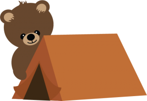 Bear With Tent SVG scrapbook file bear svg file camping svg file cute svg cuts free svgs