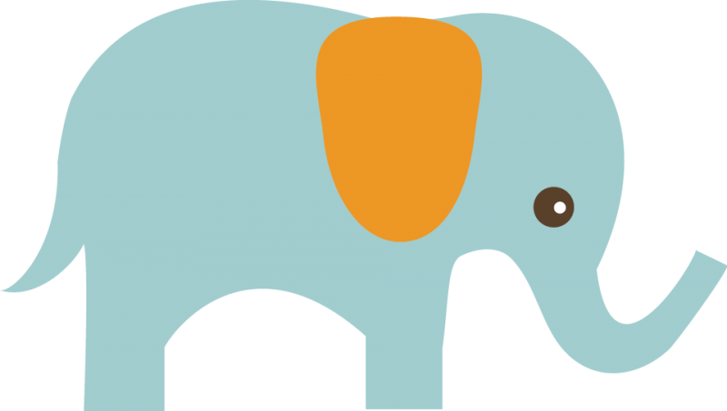 Elephant SVG Clipart Cute Clip Art