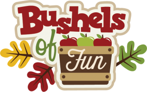 Bushels Of Fun SVG scrapbook title apple picking svg files apple svg cuts cute cut files