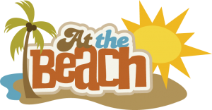 At The Beach SVG scrapbook title beach svg file beach svg cuts free svgs free cut files