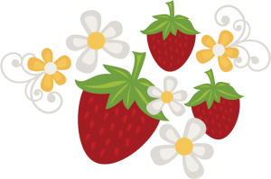 Strawberries & Flowers SVG file free svg files free svgs free strawberry svg file free flower svgs