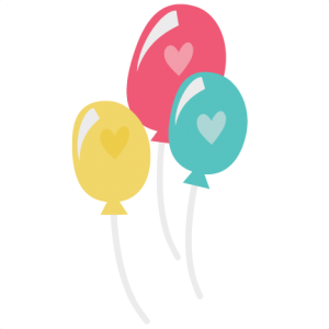 Balloons With Hearts SVG file for scrapbooking cardmaking balloon svg files balloon svg cut