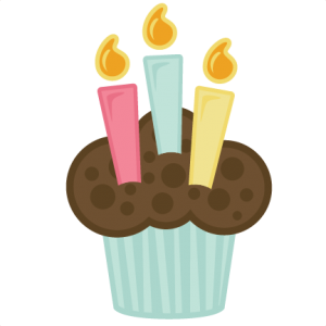 Cupcake With Candles SVG file for scrapbooking cardmaking crafts free svgs birthday svg cuts