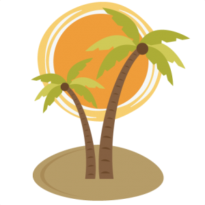 Palm Tree With Sun SVG file for scrapooking cardmaking free svg files free svgs free svg cuts