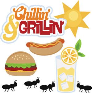 Chillin' & Grillin' SVG file for scrapbooking hamburger svg file hot dog svg file lemonade svg file free svgs