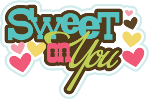 Sweet On You SVG scrapbook title valentines day svg files cute svg cuts free svgs scrapbook svgs