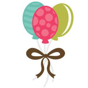 Birthday Balloons SVG files birthday svg files birthday svg cuts cute svgs free svg files for scrapbooking