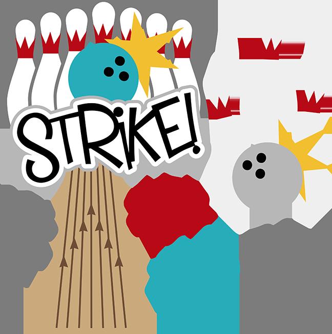 Strike SVG Scrapbook Files Bowling Svg For