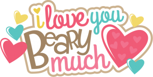 I Love You Beary Much SVG scrapbook title svg scrapbook titles svg cuts cute svgs free svgs