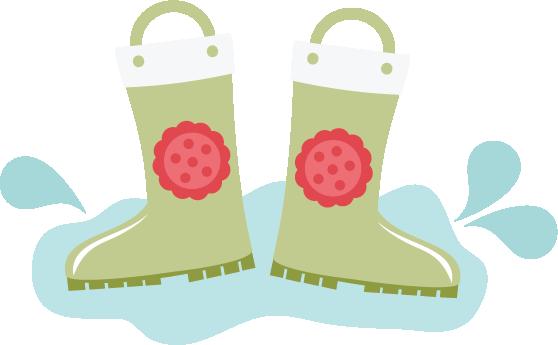 rain boots svg files for scrapbooking cardmaking rain