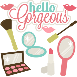 Hello Gorgeous SVG files for scrapbooks make svg files lipstick svg lipgloss svg mascara svg