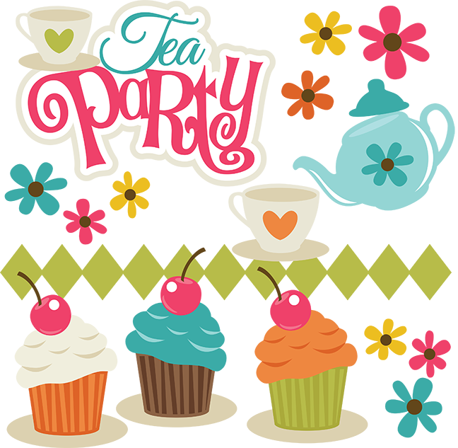 tea party svg scrapbook collection svg files for