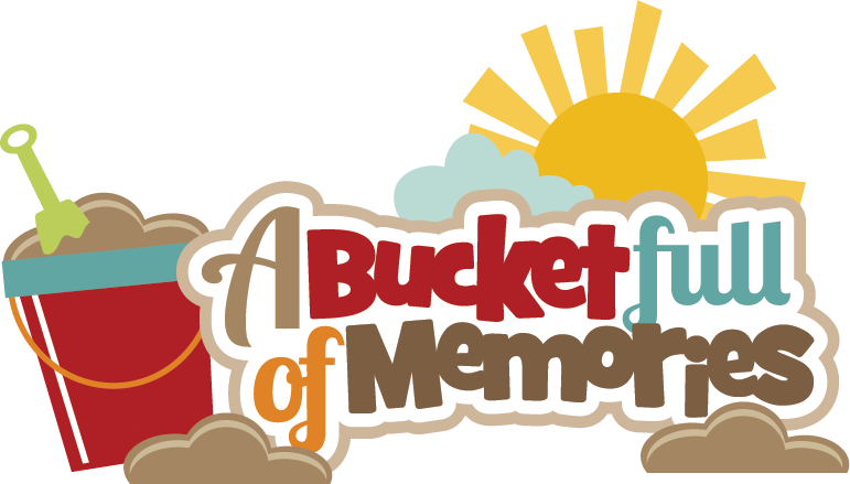 A Bucket Full Of Memories Svg Scrapbook Title Beach Svg