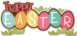 Happy Easter SVG scrapbook title easter svg file easter svg cuts free svgs for cards scrapbooks