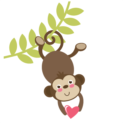 Monkey On Vine SVG file free svgs free svg cuts cute svgs ...