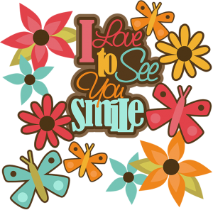 I Love To See You Smile SVG cut files butterfly svg cut file flower svg cut file for scrapbooking cardmaking free svgs