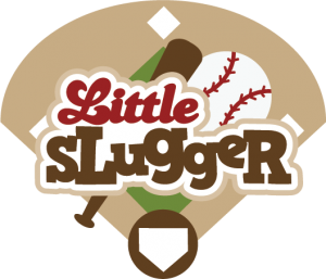 Little Slugger SVG scrapbook title baseball svg t-ball svg sports svg files for scrapbooking